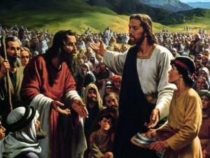 Jesus e os pães e peixes - 1