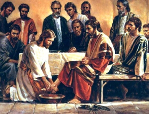 Jesus lavando os pés - 1