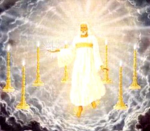 Jesus no meio dos candeeiros de ouro